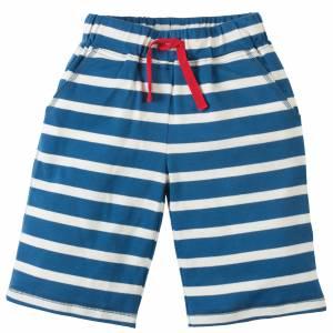Pantaloncini blu a righe