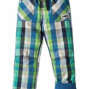 Pantaloni a quadri verdi 2