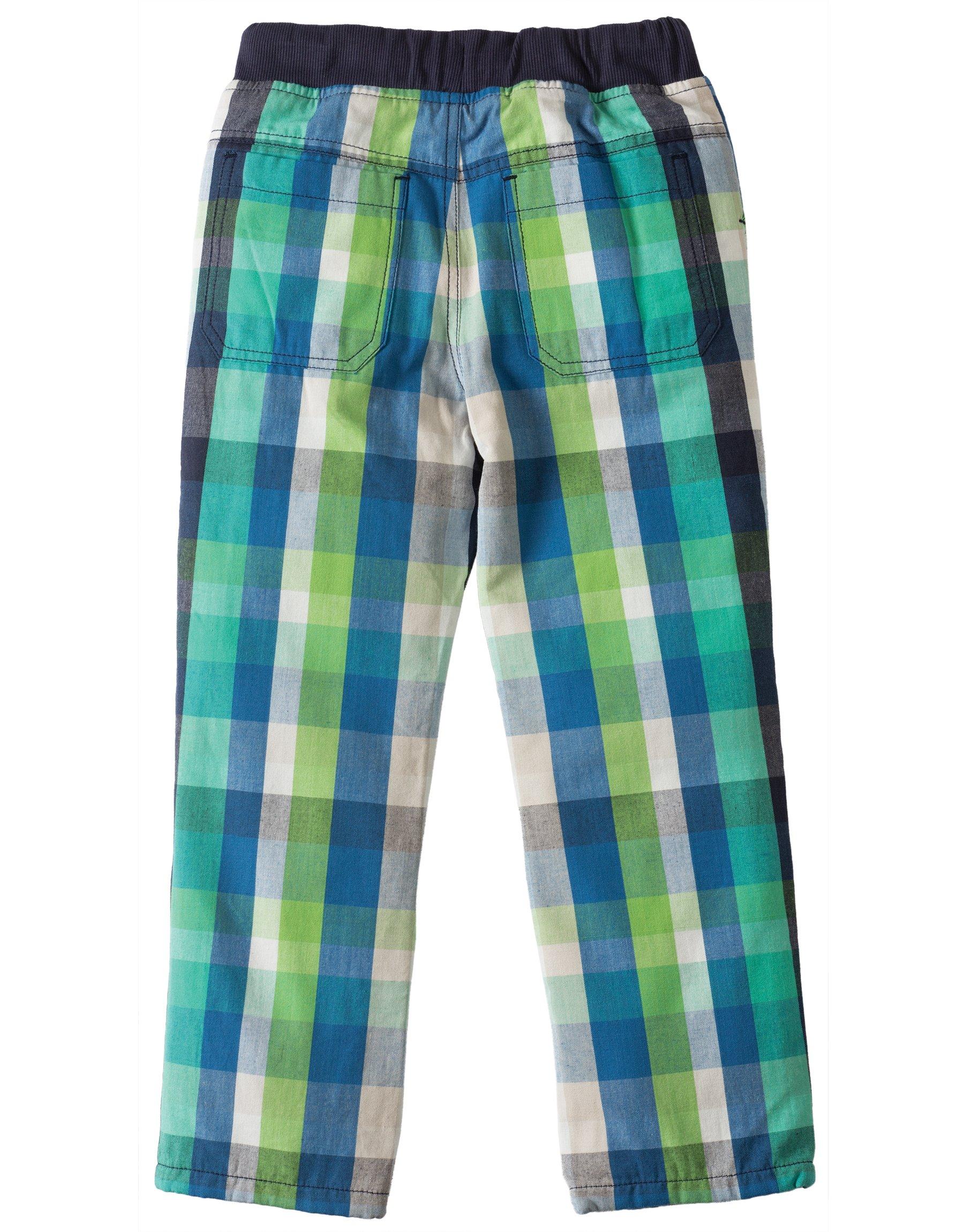 Pantaloni a quadri verdi 4
