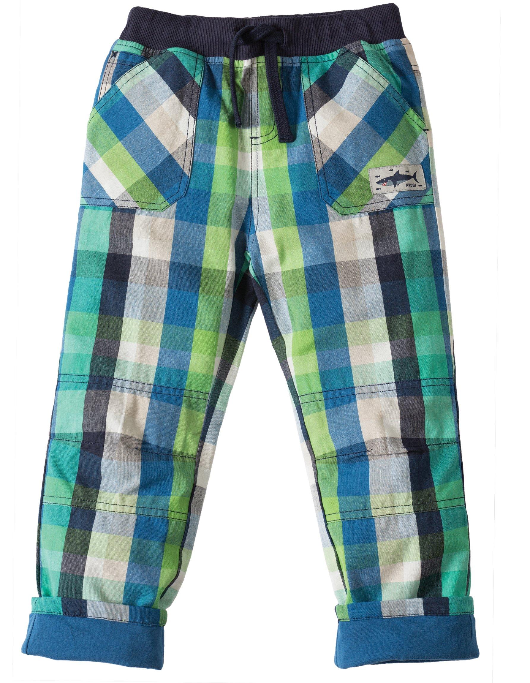 Pantaloni a quadri verdi