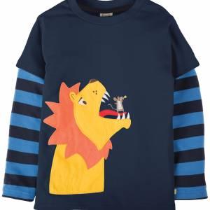 maglietta con leone e topolino