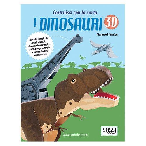 costruisci con la carta i dinosauri 3d