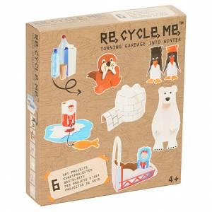 Recycle Me Art Project 6 bottiglie rotolo cartone