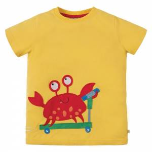 James Appliqué T-shirt granchio Frugi