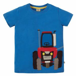 James Appliqué T-shirt trattore Frugi