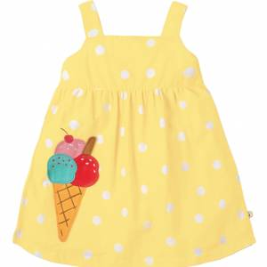 Abito Frugi Jess Party Dress giallo