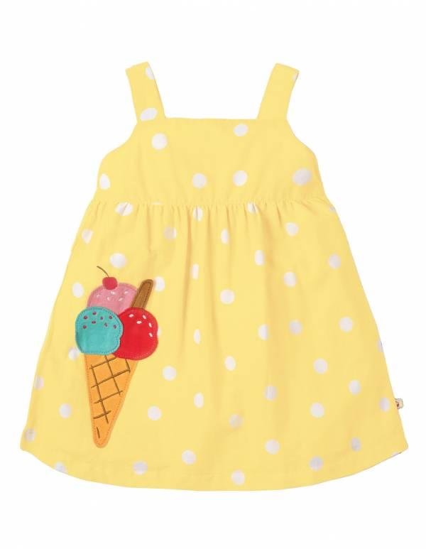 Abito Frugi Jess Party Dress giallo