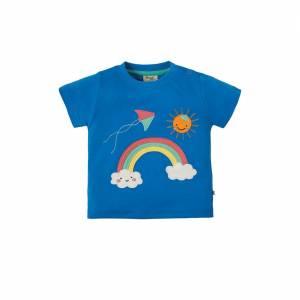 Little Creature Appliqué T-Shirt arcobaleno Frugi