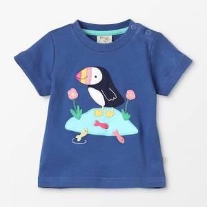 Little Creature Appliqué T-Shirt puffin Frugi