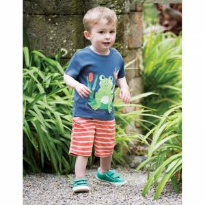 Little Creature Appliqué T-shirt rana bimbo Frugi