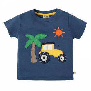 Little Creature Appliqué T-shirt trattore Frugi