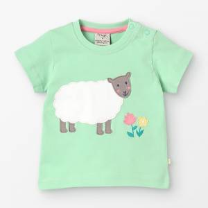 Little Polkerris Appliqué T-shirt pecora Frugi