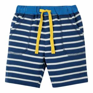 pantaloncino Little Stripy Shorts righe blu Frugi