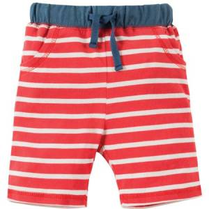 Little Stripy Shorts righe rosse Frugi pantaloncini
