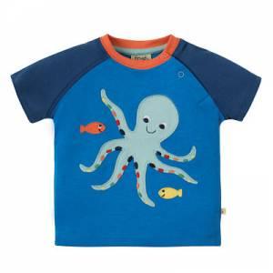 Renny Raglan T-shirt polipo Frugi
