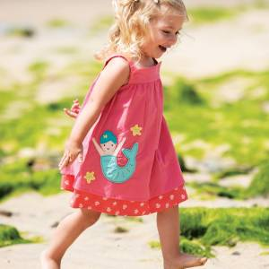 Abito Frugi Rosemary Reversible Dress rosa bimba