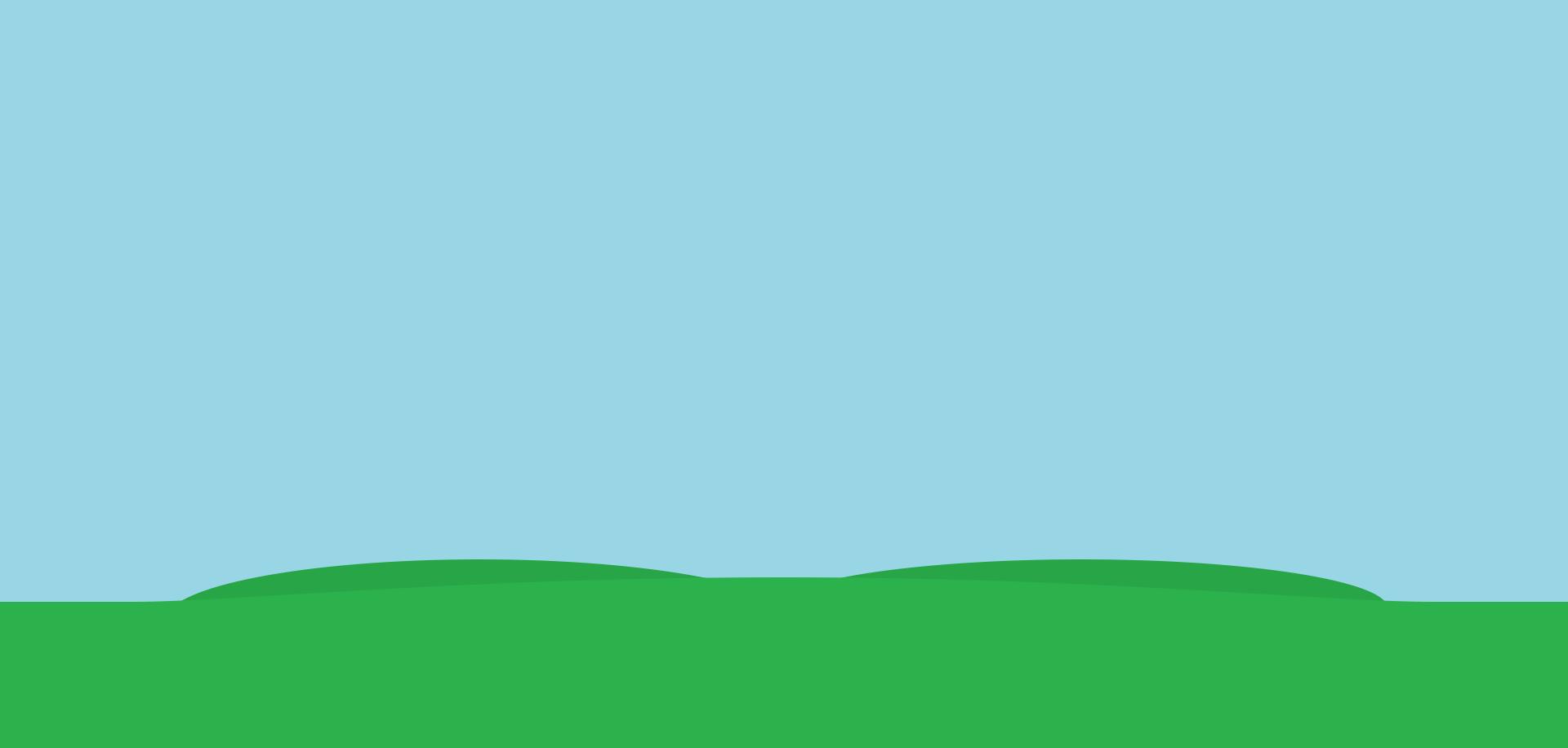 sfondo slider in home page - prato verde su cielo azzurro